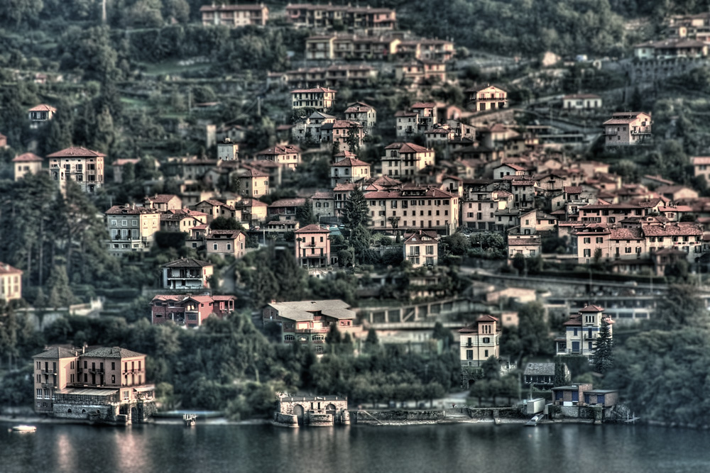 Lake Como, Italy - View of Varenna from Menaggio