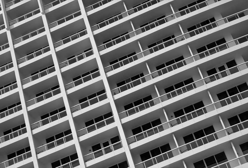 Grid-like balconies